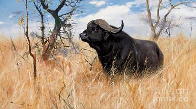 Yak Painting - Cape Buffalo by Friedrich Wilhelm