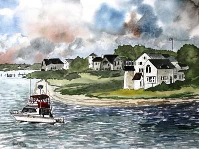 Watercolour Painting - Cape Cod Lighthouse by Derek Mccrea