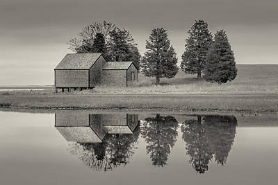 Cape Cod Reflections Black And White Photography Original by Dapixara Art