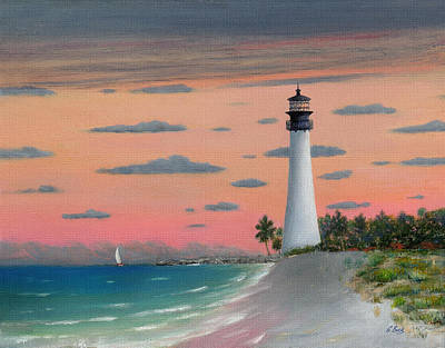 Florida State Painting - Cape Florida Light by Gordon Beck