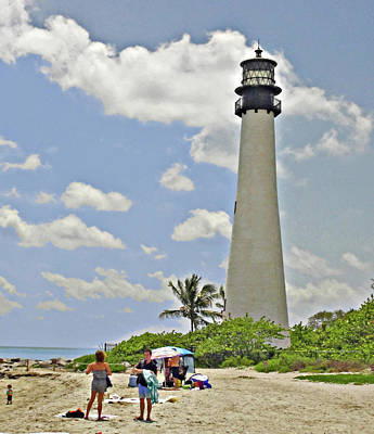Cape Florida Lighthouse Print by Allan Einhorn