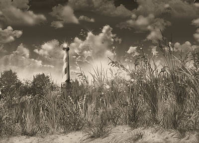 Atlantic Coast Digital Art - Cape Hatteras Lighthouse 3 by Bekim Art