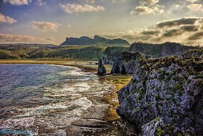 Hedo Photograph - Cape Hedo And Mount Daisekirinzan by Josh Bryant
