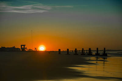 Seascape Photograph - Cape May - Beautiful Morning by Bill Cannon