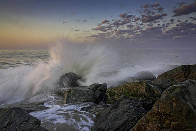 Bursting Photograph - Cape May High Tide by Rick Berk