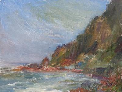 Water Painting - Cape Perpetua - Original Impressionist Contemporary Coastal Painting by Quin Sweetman