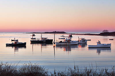 Cape Porpoise Harbor Morning Print by Eric Gendron