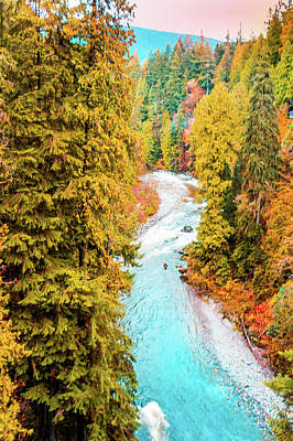 Capilano River, Vancouver Bc, Canada Print by Art Spectrum