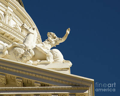 Capitol Frieze Sculpture Print by Juan Romagosa