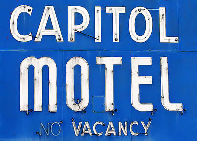 Capitol Sign Print by Todd Klassy
