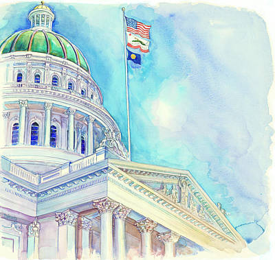Capitol Building Painting - Capitol Upclose by Jaime Tosch