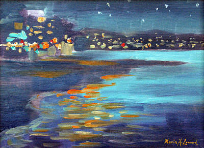 Iconic Painting - Capitola Nocturne by Karin  Leonard