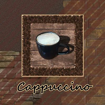 Beverage Photograph - Cappuccino - Coffee Art by Anastasiya Malakhova