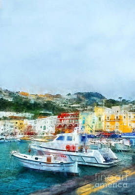 Cloudy Day Painting - Capri by HD Connelly