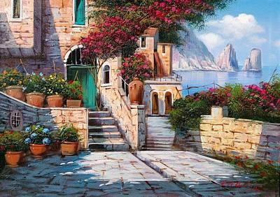 Capri South Of Italy Original by Ernesto Di Michele