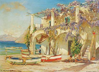 House Painting - Capri by Westchiloff