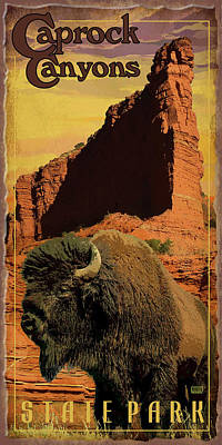Caprock Canyons State Park Print by Jim Sanders