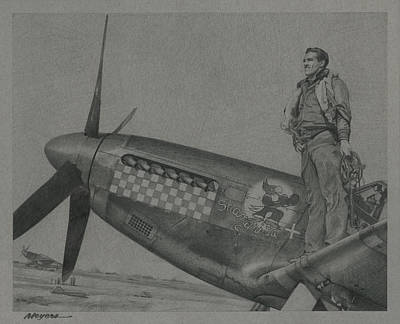 Capt Don S Gentile 1944 Original by Wade Meyers