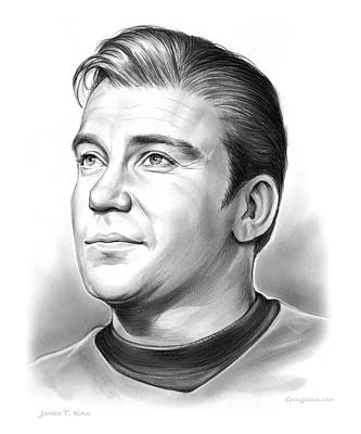 Williams Drawing - Capt. James T. Kirk by Greg Joens