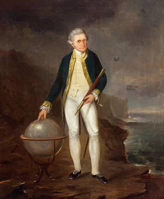 Joseph Backler Painting - Captain Cook On The Coast Of New South Wales by Joseph Backler