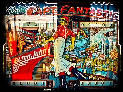 Elton John Photograph - Captain Fantastic - Pinball by Colleen Kammerer