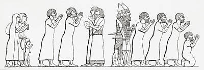 Ancient Civilization Drawing - Captive Israelites Brought by Vintage Design Pics