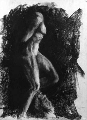 Male Nude Drawing Drawing - Captive Slave by Chris  Riley