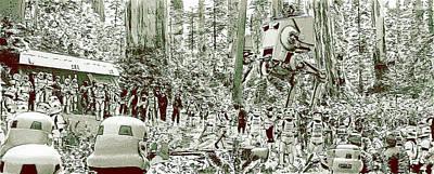 Stormtrooper Digital Art - Capture On Endor by Kurt Ramschissel