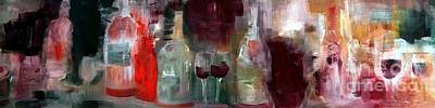 Wine Painting - Captured In My Dream by Lisa Kaiser