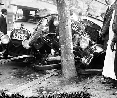 Car Accident, C1919 Print by Granger