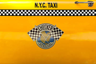 Car - City - Nyc Taxi Print by Mike Savad