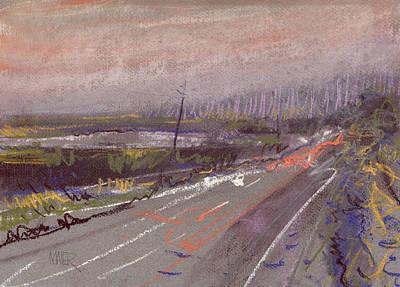 Car Lights And Rainy Nights Original by Donald Maier