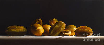 Lemon Painting - Carambolas,lemons And Banana by Larry Preston