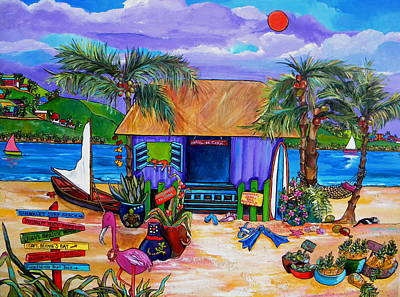 Mango Painting - Cara's Island Time by Patti Schermerhorn