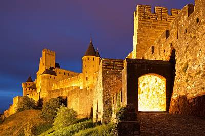 Carcassonne City Walls Print by Stephen Taylor