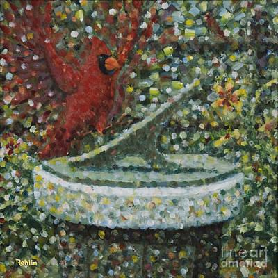 Cardinals I / Sundial Original by Jim Rehlin