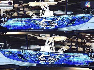 Contender Digital Art - Carey Chen Boat Wraps by Carey Chen