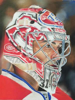 Montreal Canadiens Drawing - Carey Price by Andre Kominik