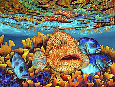 Silk Painting - Caribbean Sea - Eden by Daniel Jean-Baptiste