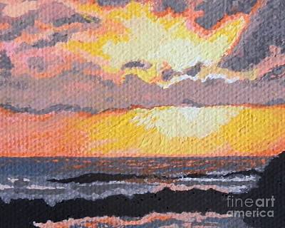 Caribbean Sunset Over Great Bay Print by Margaret Brooks