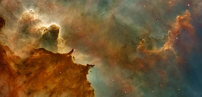 Carina Nebula Details -  Great Clouds Print by Mark Kiver