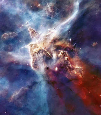 Carina Nebula Pillar Print by The  Vault - Jennifer Rondinelli Reilly