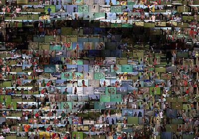 Bill Murry Mixed Media - Carl Caddyshack Mosaic by Paul Van Scott
