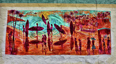 Photograph - Carlsbad Surfing Mural by Tommy Anderson