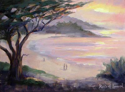 Carmel Beach Romance Original by Karin  Leonard