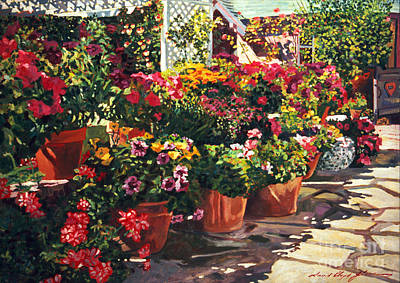 Bed Painting - Carmel Bed And Breakfast by David Lloyd Glover