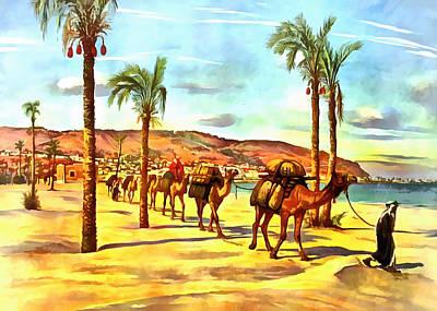 Camel Digital Art - Carmel Mountains by Munir Alawi