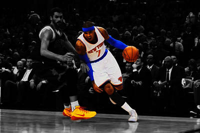Carmelo Anthony Print by Brian Reaves