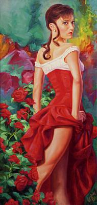 Carmen. Eva Trapp Portrait Print by Yury Fomichev