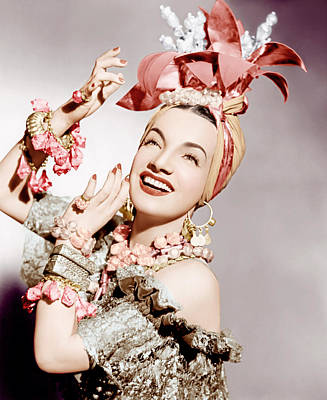 Carmen Miranda, Ca. Early 1940s Print by Everett